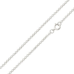 925 Sterling Silver Italy Rolo Chain Necklace